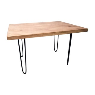 Repurposed Wood Coffee Table With Hairpin Legs