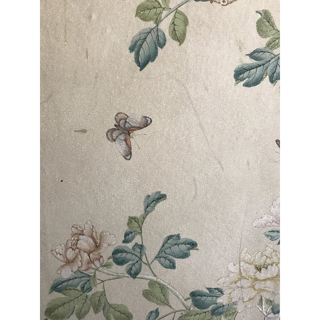 Gracie Chinoiserie 4 Panel Wallpaper Screen - Image 9 of 11