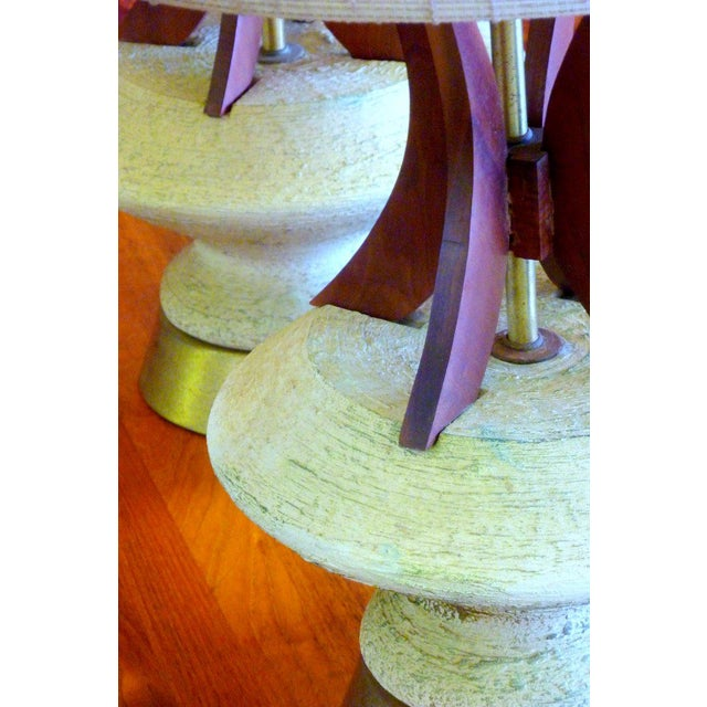 Plasto Teak and Chalkware Lamps - A Pair - Image 5 of 5