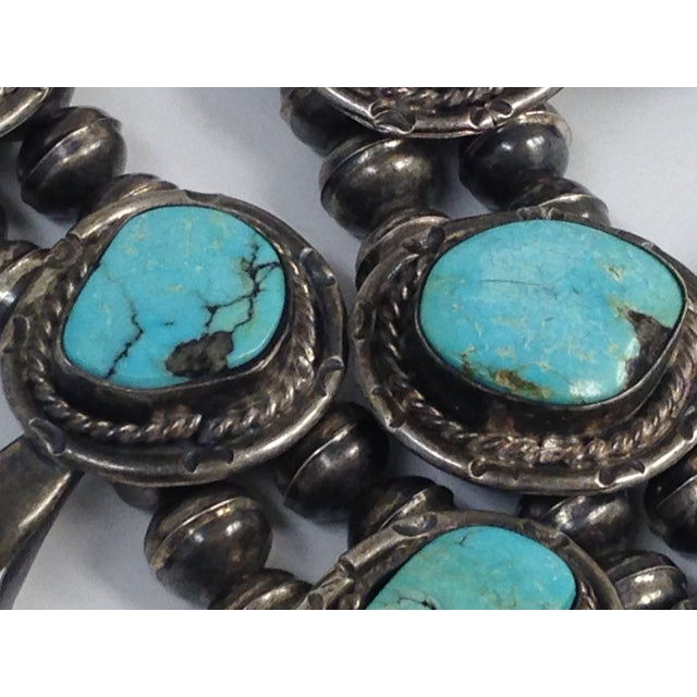 Image of Sterling Turquoise Squash Blossom Necklace
