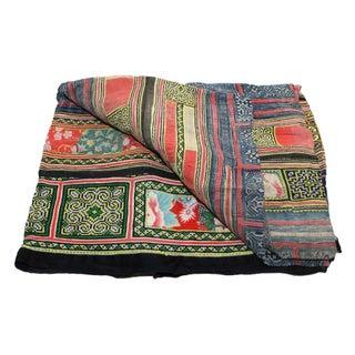 Vibrant & Dark Hued Hmong Blanket