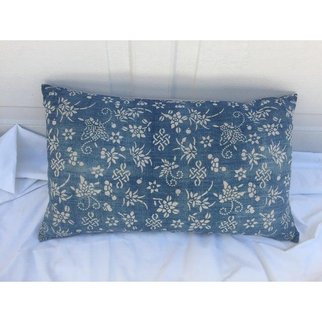 Indigo Batik Bamboo & Butterfly Pillow - Image 5 of 6