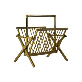 Italian Brass Magazine Rack