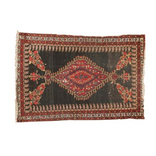 "Antique Senneh Square Rug - 3'6"" X 4'5"""