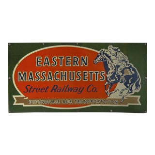 Vintage Eastern Massachusetts Street Railway Co. Sign