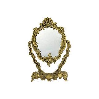 Shell Brass Vanity Mirror