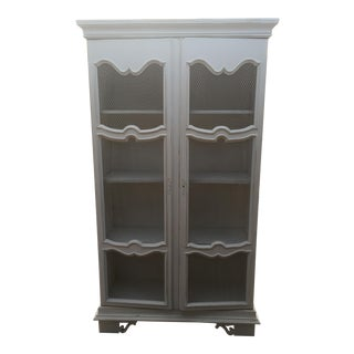 Hutch Distressed French Country Cabinet