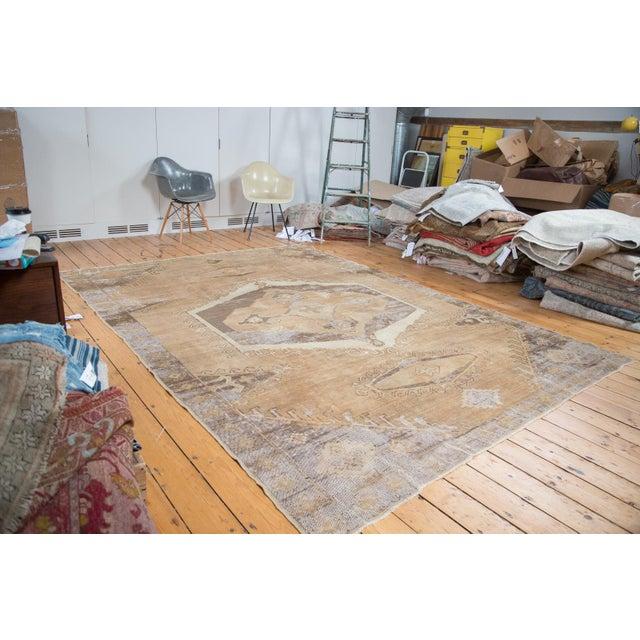 "Distressed Oushak Carpet - 7'10"" X 11' - Image 2 of 9"