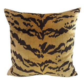 Bespoke Scalamandre Silk Velvet Tigre Pillow