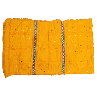 Mustard Yellow Moroccan Wedding Blanket