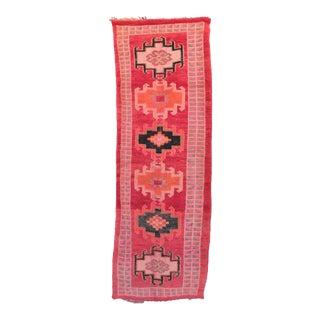 "Azilal Vintage Moroccan Rug, 3'7"" x 10'6"" feet / 110 x 320 cm"