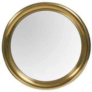 Mastercraft Circular Brass Framed Porthole Mirror