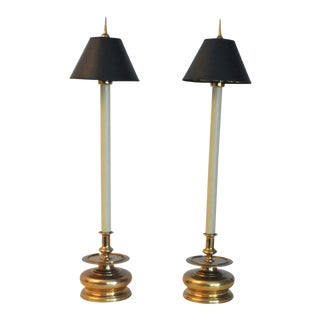 Vintage 1981 Chapman Spike Table Lamps - A Pair