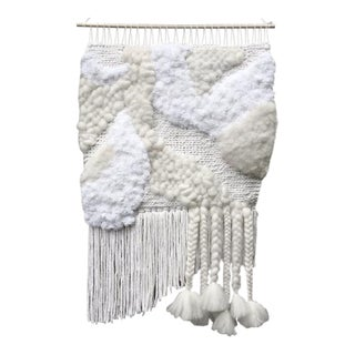 Willow Brooke Bright White Woven Wall Hanging