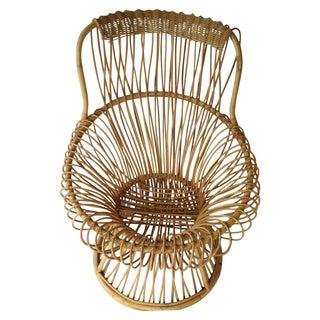 Franco Albini Style Vintage Rattan Margarita Chair