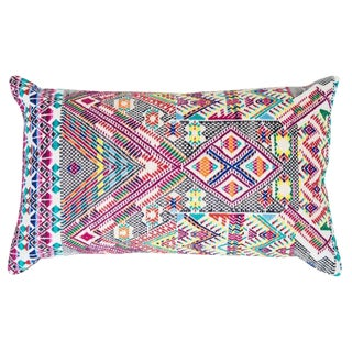 Guatemalan Multicolored Handwoven Pillow
