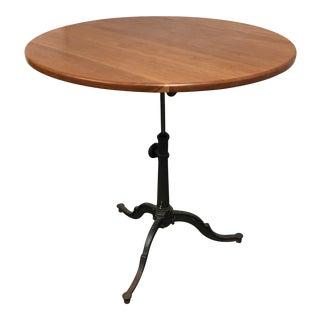 Round Iron Tilt Top Table