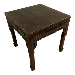 Antique Chinese Mahjong Table