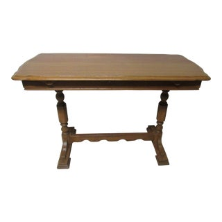 Vintage Butterfly Leaf Console Table