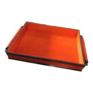 Mid-Century Bright Orange Tray