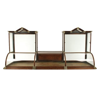 Antique Curved Glass Counter Top Showcase / Display Case