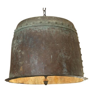 ANTIQUE FRENCH COPPER LIGHT WITH RIVETS