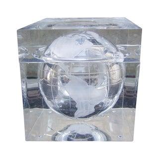 Alesandro Albrizzi Attri. Lucite Globe Bucket