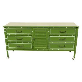 1960's Apple Green Dresser
