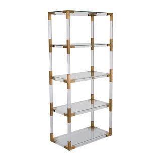 Hayley Acrylic & Brass Bookshelf