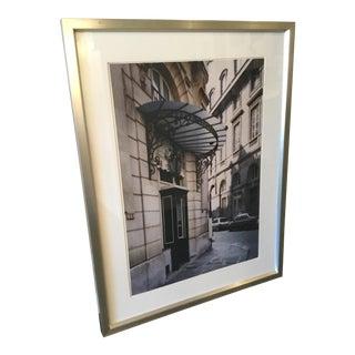 Framed Photograph of a Paris Street