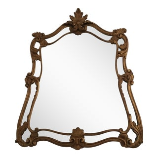 Gold Brushed Gilt Wooden Mirror