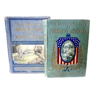McKinley & Roosevelt First Editions Books - Pair