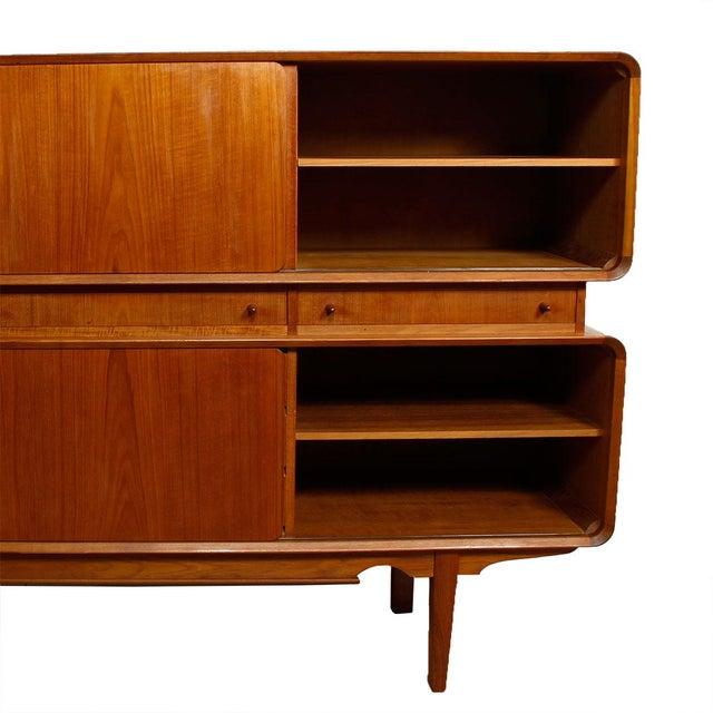 Rare Danish Modern Teak Highboard / Bar Cabinet - Image 6 of 9
