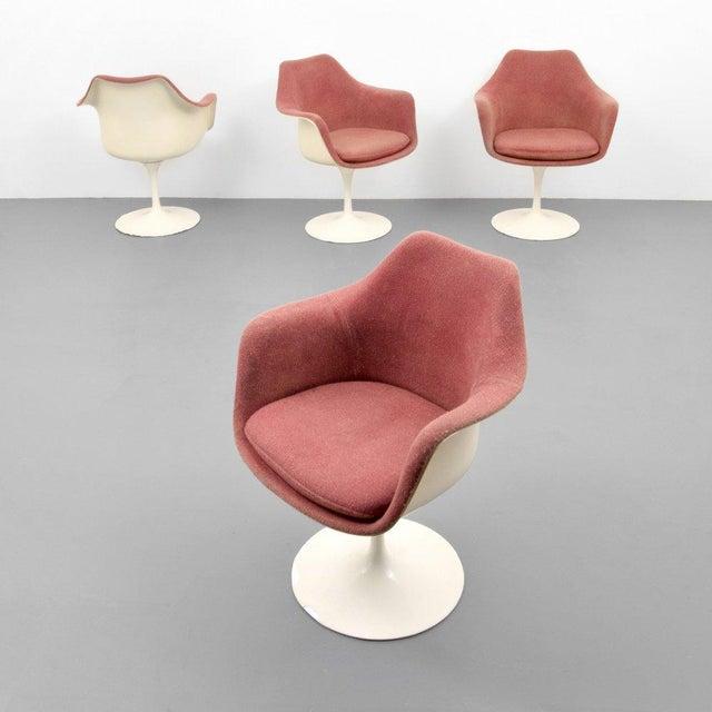 Eero Saarinen for Knoll Inc Tulip Arm Chairs, Set of 4 - Image 9 of 9