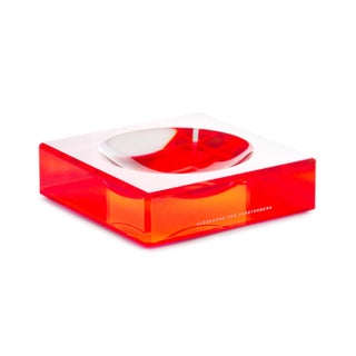 Cherry Red Lucite Charm Bowl