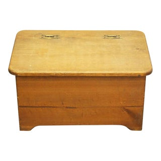 Small Wooden Chest With Heart Detail