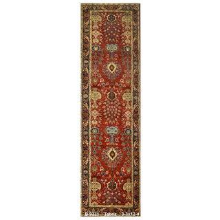 Vintage Persian Tabriz Rug - 3′3″ × 12′4″