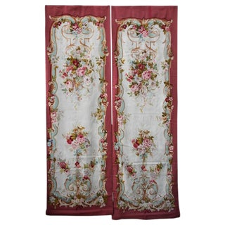 Pair of 19th Century Floral Aubusson Panels