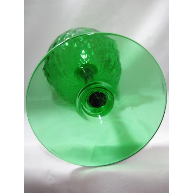 Image of 1950s Mouthblown Art Glass Optic Pattern Italy