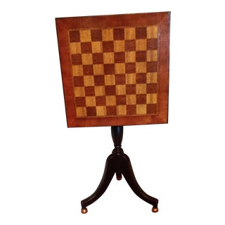 Chess & Checkers Tilt Top Table