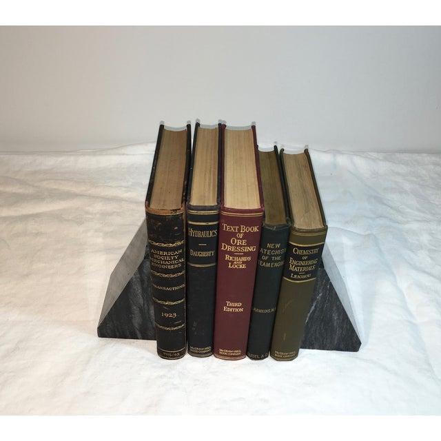 Image of Vintage Display Books on Engineering - Set of 5