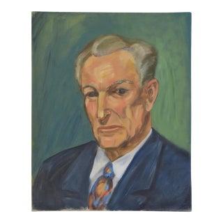 Mid-Century Formal Gentleman Portrait