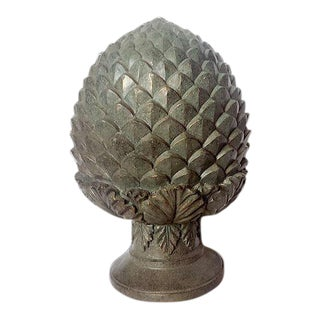 Antique Hand Painted Pineapple Finial