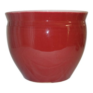 Red Oxblood Porcelain Planter