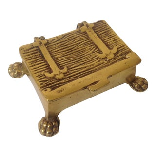 Vintage Gold Brass Matchstick Holder