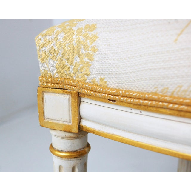 Cream & Gilt Accent Chairs by Baker - A Pair - Image 6 of 11