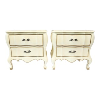 French Bombe Nightstands - Pair