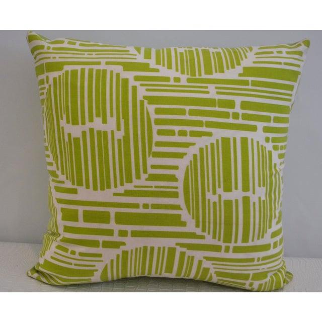 Modern Geometric Pillows : Modern Green Geometric Pillow Chairish