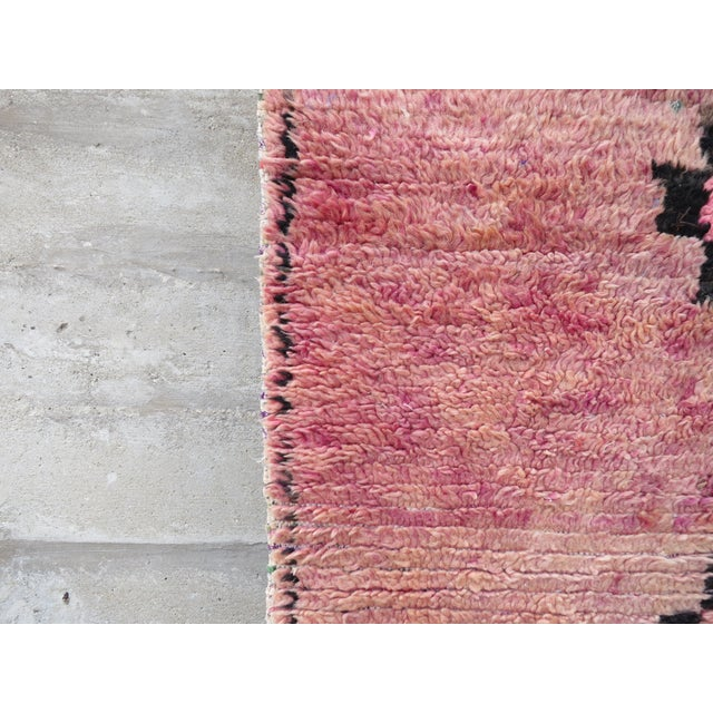 Pink Moroccan Azilal Runner - 2′11″ × 5′5″ - Image 4 of 4