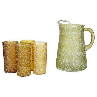 1960's White String Beverage Set - Set of 5